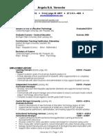 vereecke resume 2016