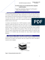 Predicting Transverse Shear Stress on Core Material of the Composite Sandwich Plates
