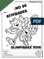 Caderno de Atividades Olimpíadas 2016 Faixa Etária 4 Anos