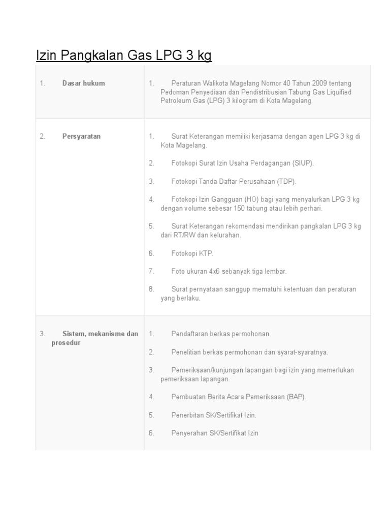 Contoh Proposal Agen Gas Elpiji Goresan