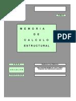 Memoria Calculo Et-1parque de Poblamiento