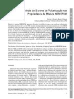 Influencia Do Sistema de Vulcanização Nas Propriedades Da Mistura NBR EPDM