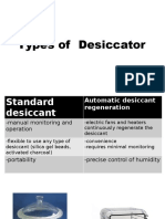 types of desiccator