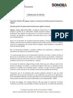 26/07/16 Supervisan titulares de Sagarpa, Sedena y Secretaría de Gobierno puerto fronterizo en Nogales -C.0716137