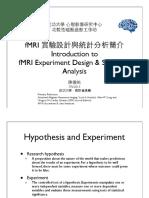 FMRI Experiment