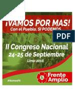 Convocatoria II Congreso Nacional Politico Organizativo