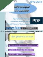 Cours Mécanique Du Solide_S3 Upload Par Mouhssine_koussour by ExoSup