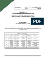 Sincor - Ca04!04!33-P-dc-101_x3 - Electrical System Design Criteria