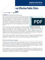Ingredients for an Effective Public Ethics Training Program - CAPI Issue Brief - August 2016