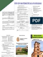 Plegabjgjghle Especializacion en Matematicas Avanzadas