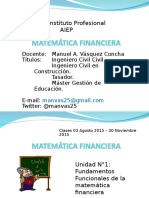 Clase Matematica Financiera