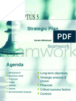 Sample Strategic Plan Presentation - Including Strategic Analysis Choice