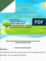Comparison Verbal and Non Verbal