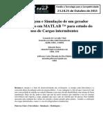 Modelagem de um gerador fotovoltáico