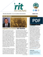 Newsletter Aug 2016 Las Colinas Association