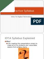 idt-interactive syllabus