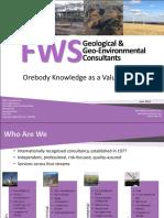 Plenary 6 - Keenan Jennings FWS - Orebody Knowledge