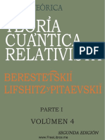 Curso de Fisica Teorica - Vol 4a - Mecanica Cuantica Relativista