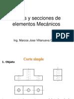 Cortes y Secciones Elementos Mec.