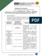 Tdr Expediente Tecnico Pavimentacion Techo Propio Distrito de Yanacancha, Pasco - Pasco.
