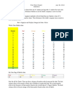 statistics final project summer semester 2016