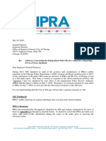 IPRA Response Advisory Regarding Use-Of-Force Reporting