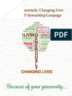 Living Generously, Changing Lives 2016/17 Campaign