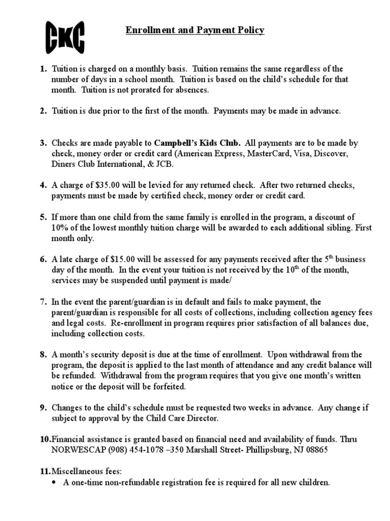 page 8 of parent handbook | Tuition Payments (30 views)