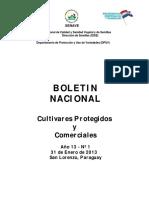 Boletin Nacional de Cultivares Protegidos y Comerciales Version-01-Ano2013