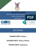 Informe 1er Semestre 2016 Big Data