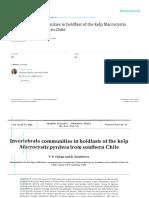 Invertebrate Communities in Holdfast of the Kelp Macrocystis pyrifera