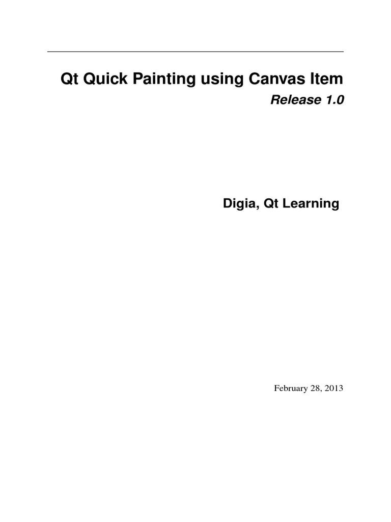 Qt Quick Canvas Tutorial | Disclaimer | Copyright