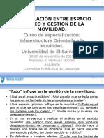 Interrelación Entre Espacio Público y Gestión de La Movilidad. El Salvador, Noviembre 2015.