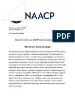 NAACP Statement on 13-year-old shooting suspect