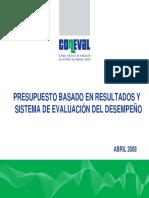 Presupuesto Baseado en Resultados y Sistema de Evaluación Del Desempeño