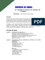 Propuesta de Curso -Técnicas Para Análisis de Fallas
