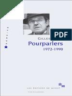 Deleuze Pourparlers