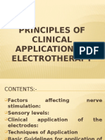 Basic Guidelines for Practical Applications of electrotherapy
