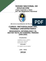 Monografia Informalidad en Gamarra