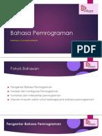 Pertemuan 1 -Bahasa Pemrograman by Achmad Arrosyidi