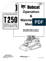 BOBCAT T 250 Operation and Maintenance Manual ENGLESKI