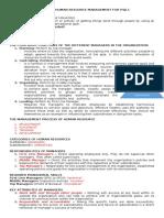 Handout for Human Resource Management Psjlc