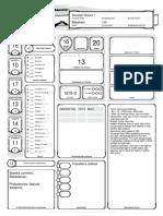 Character Sheet I made for a Baketako Bliacklight Mutator