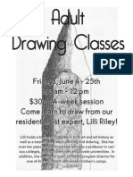 Adult Drawing Class Flier