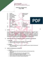 Sil Epidemiología - V Ciclo - CCBB FMH USMP - 2016 I