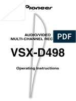 34506598Operating Instructions VSX-D498