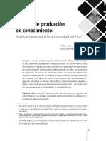 Valdeleón, Manosalva 2013 - Modo 3 de Producción de conocimiento