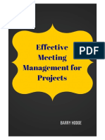 Effective Meeting Management for Projects
