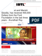 Arvind Kejriwal and Manish Sisodia, Has Received 400,000 Dollars From the Fo