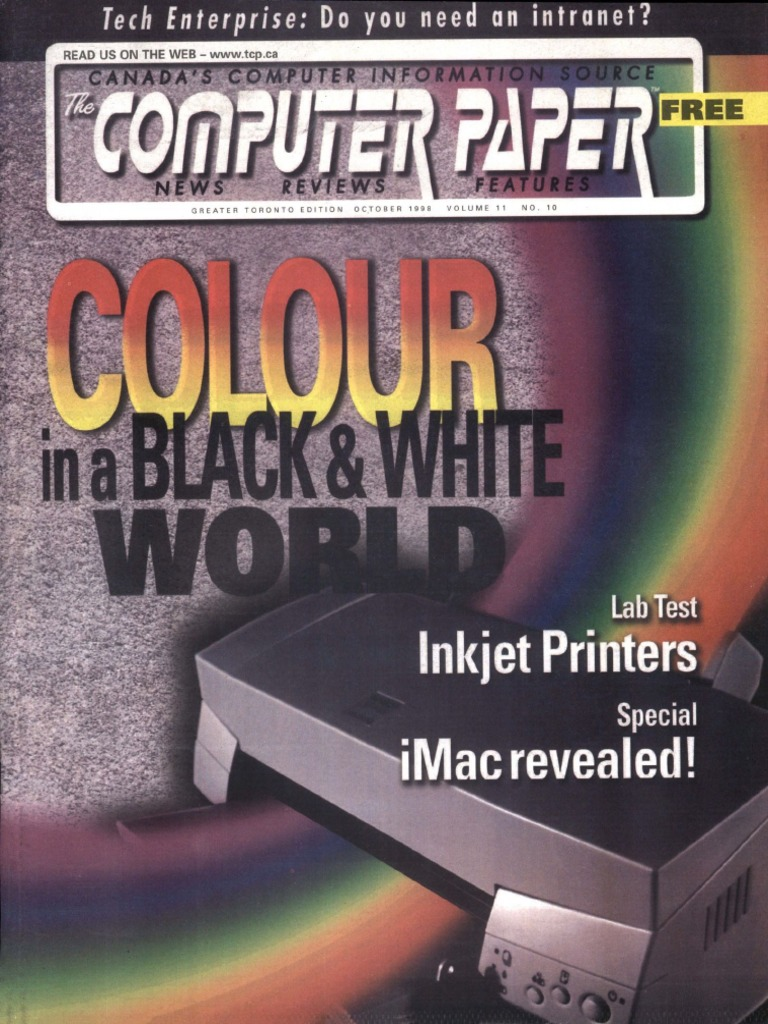 1998 10 The Computer Paper Ontario Edition Personal Computers